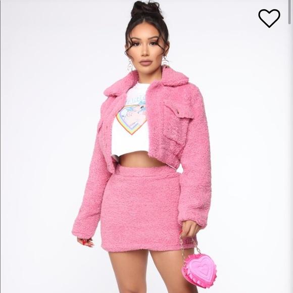 Fashion Nova Dresses & Skirts - Brand new Sherpa set still in packaging